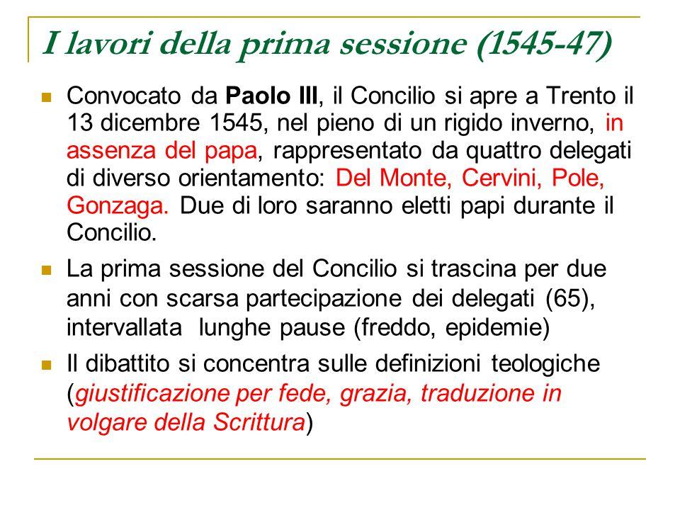 I lavori della prima sessione (1545-47)
