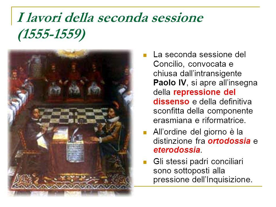 I lavori della seconda sessione (1555-1559)