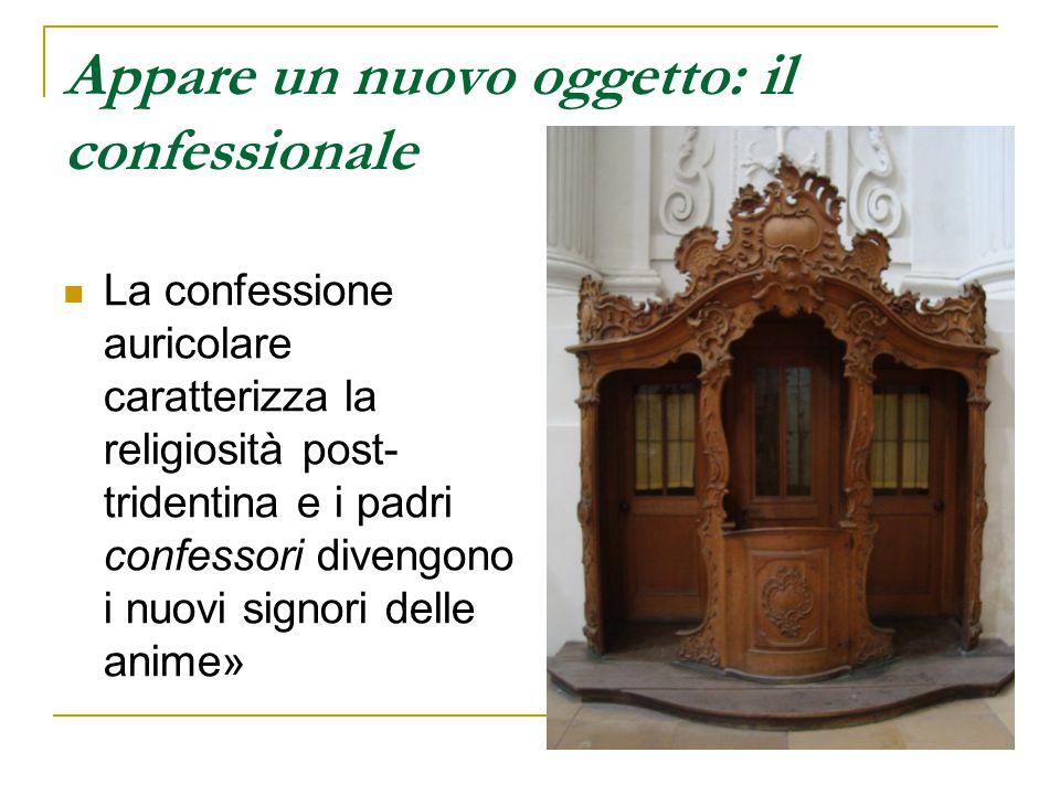 Appare un nuovo oggetto: il confessionale