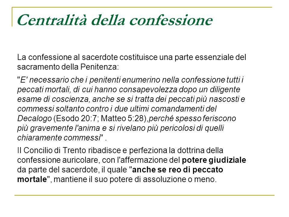 Centralità della confessione