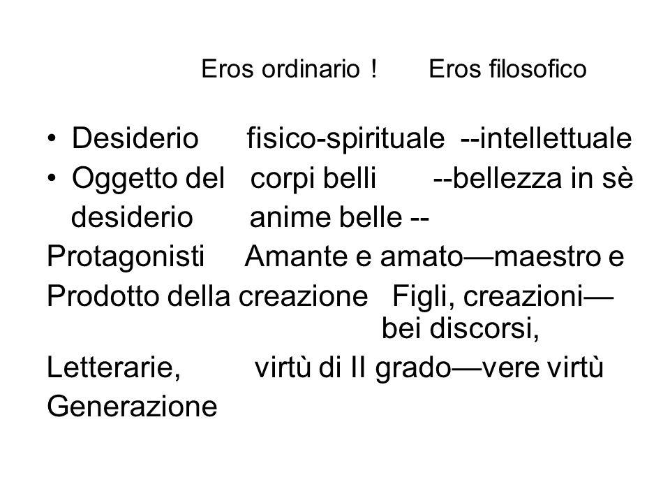Eros ordinario ! Eros filosofico
