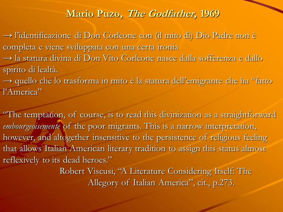 Mario Puzo, The Godfather, 1969