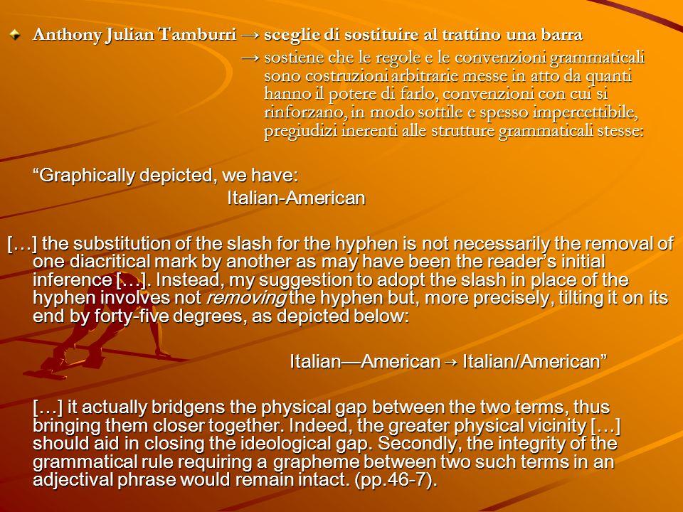 Anthony Julian Tamburri → sceglie di sostituire al trattino una barra
