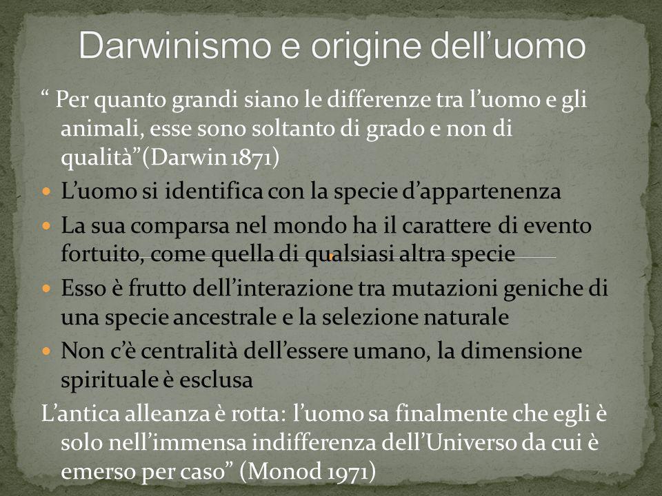 Darwinismo e origine dell'uomo