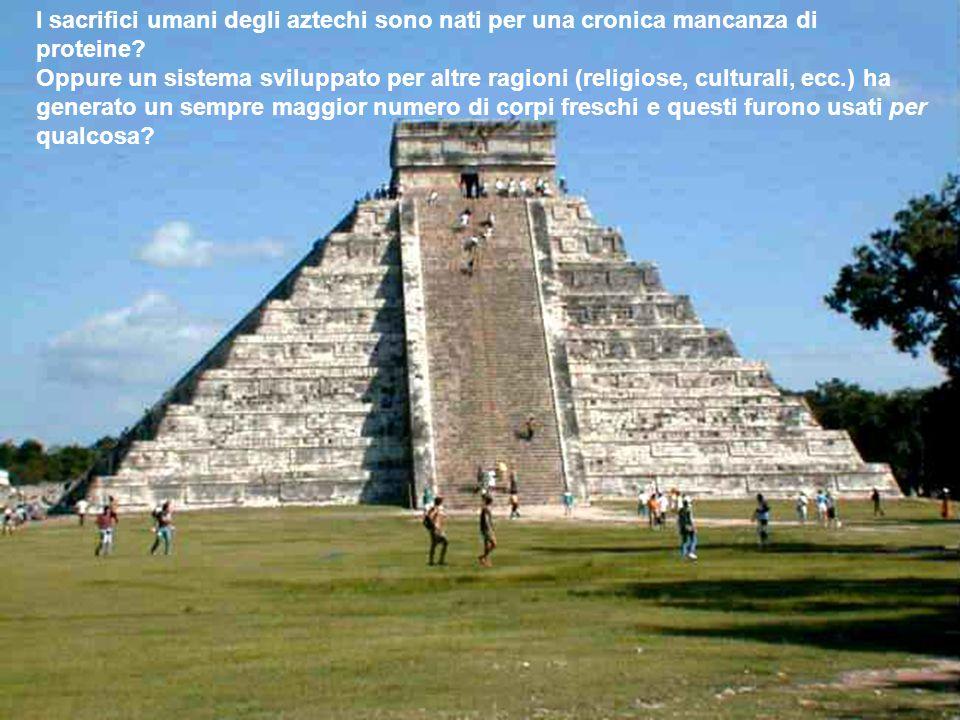 I sacrifici umani degli aztechi sono nati per una cronica mancanza di proteine