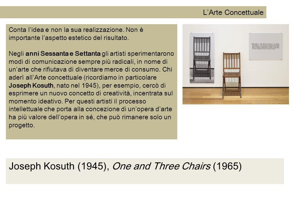 Joseph Kosuth (1945), One and Three Chairs (1965)