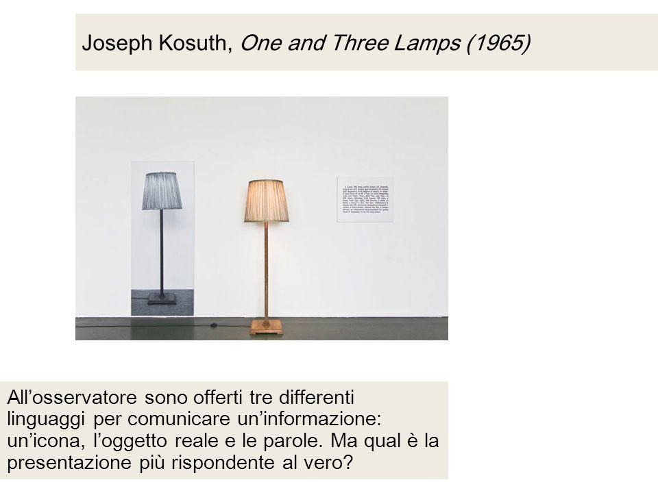 Joseph Kosuth, One and Three Lamps (1965)
