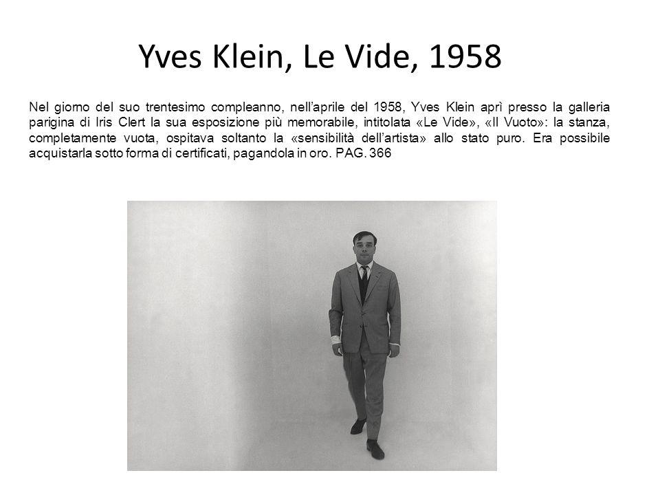 Yves Klein, Le Vide, 1958