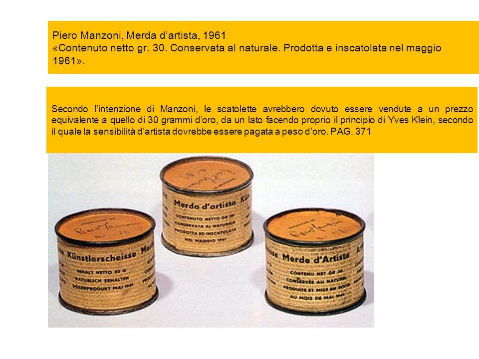 Piero Manzoni, Merda d'artista, 1961 «Contenuto netto gr. 30