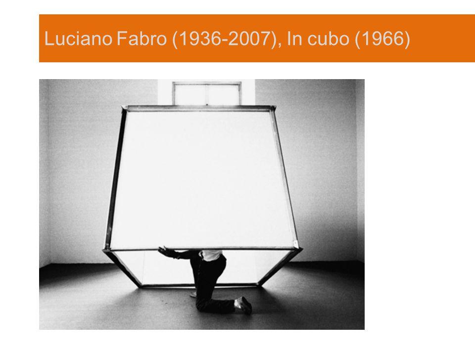Luciano Fabro (1936-2007), In cubo (1966)
