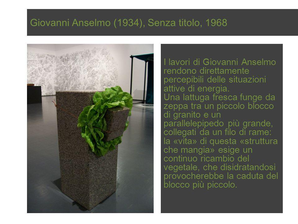Giovanni Anselmo (1934), Senza titolo, 1968