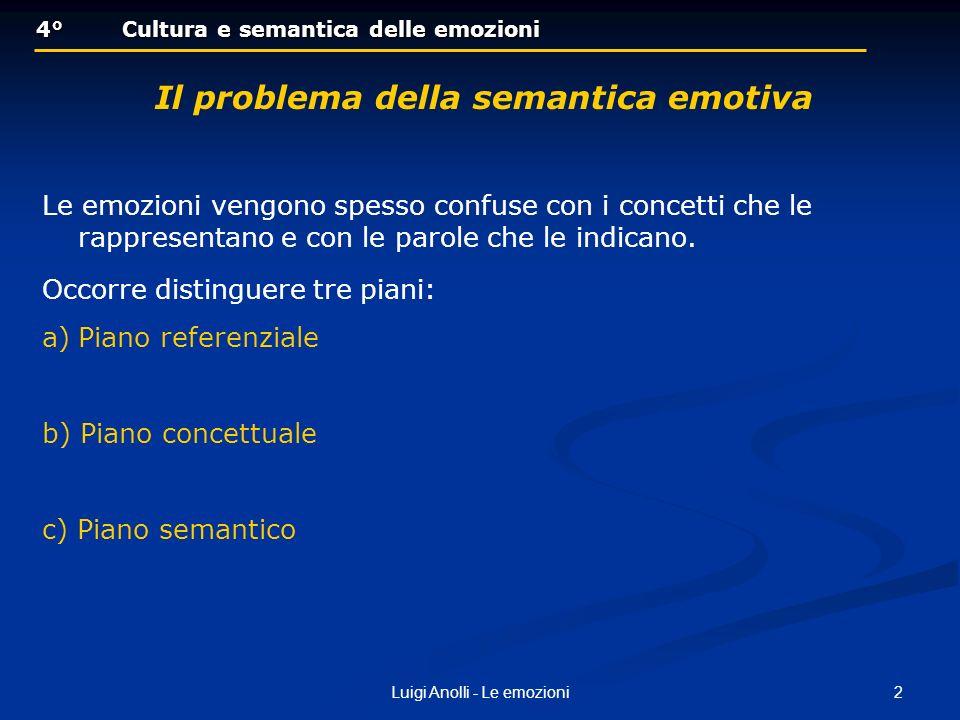 Il problema della semantica emotiva
