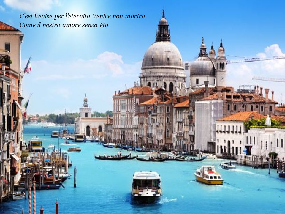 C'est Venise per l'eternita Venice non morira