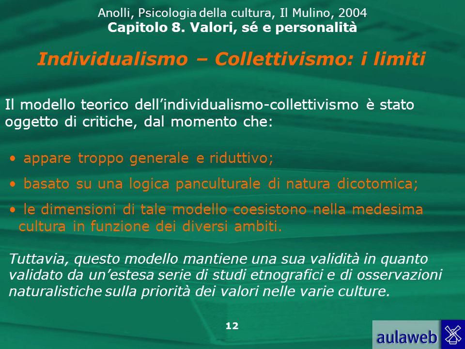 Individualismo – Collettivismo: i limiti