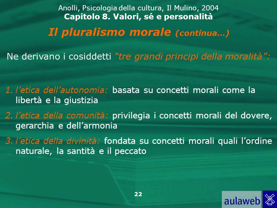 Il pluralismo morale (continua…)