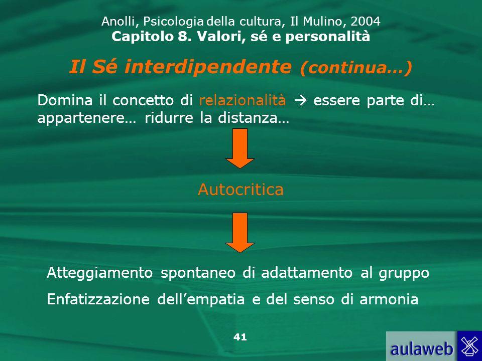 Il Sé interdipendente (continua…)