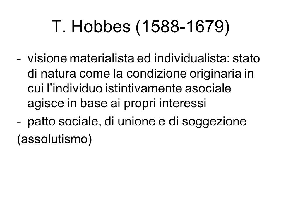 T. Hobbes (1588-1679)