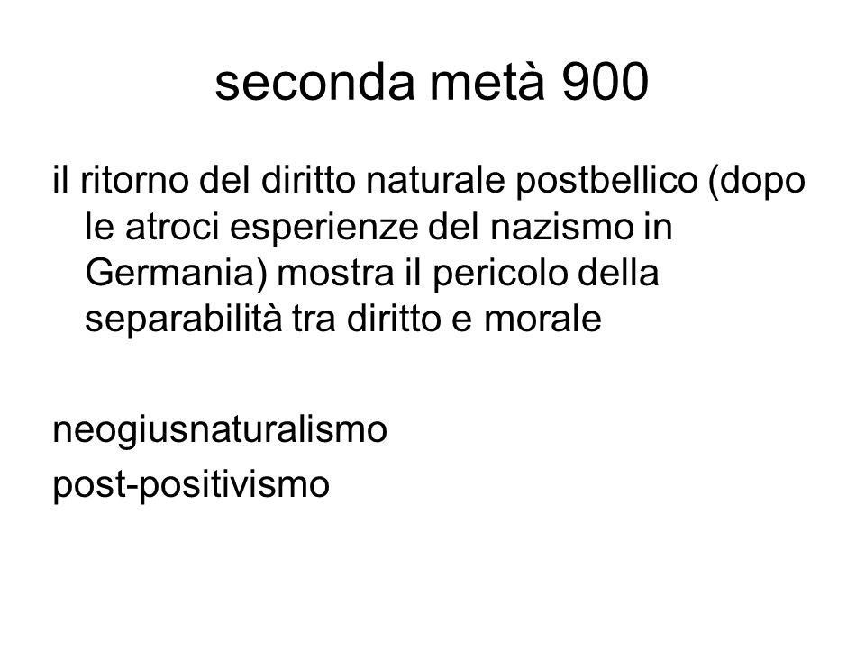 seconda metà 900
