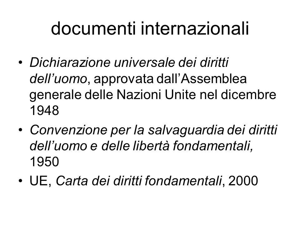 documenti internazionali