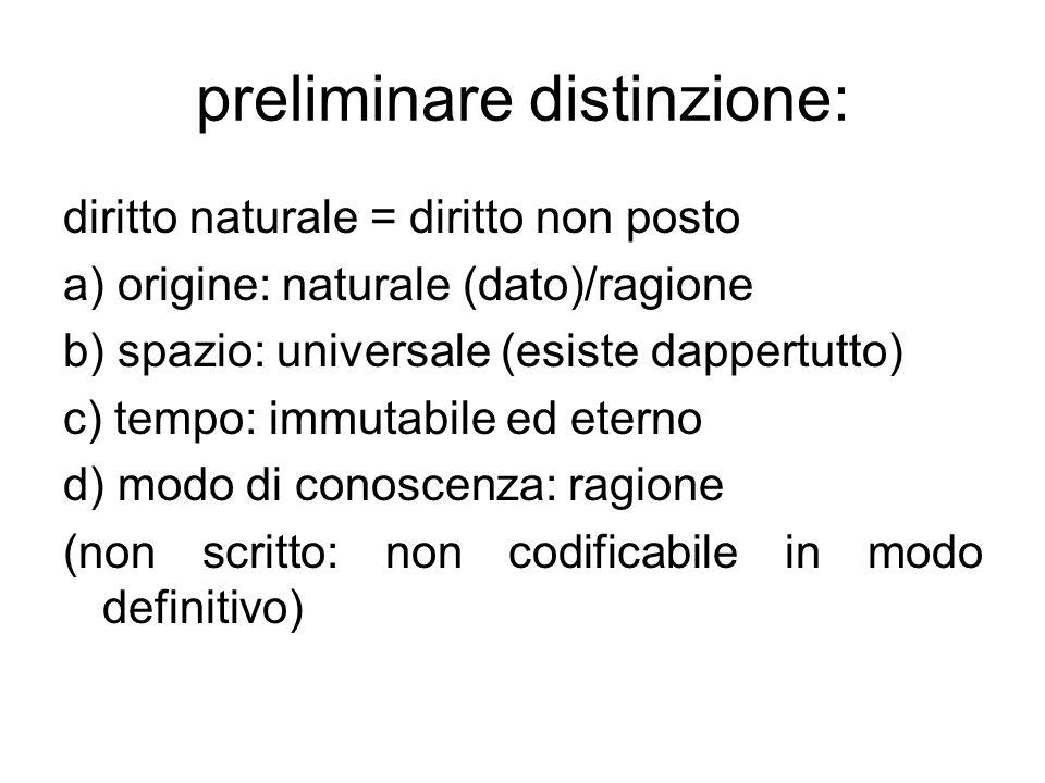 preliminare distinzione: