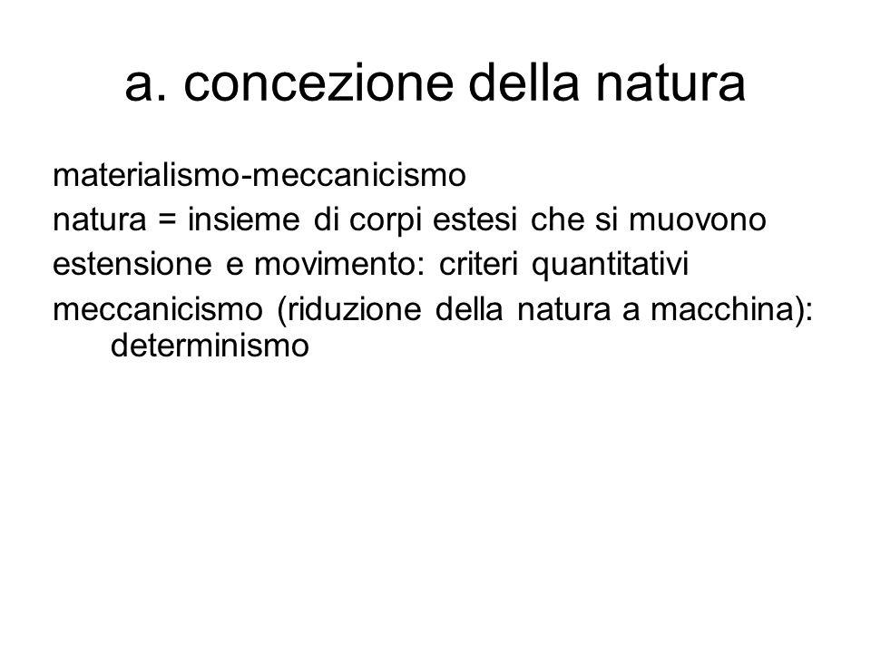 a. concezione della natura