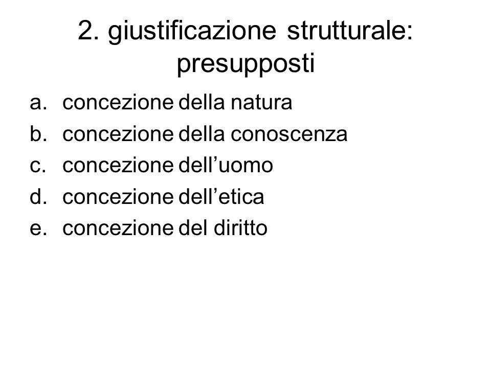 2. giustificazione strutturale: presupposti