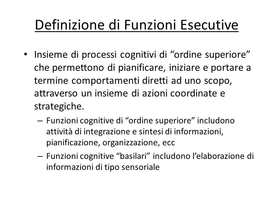 Definizione di Funzioni Esecutive