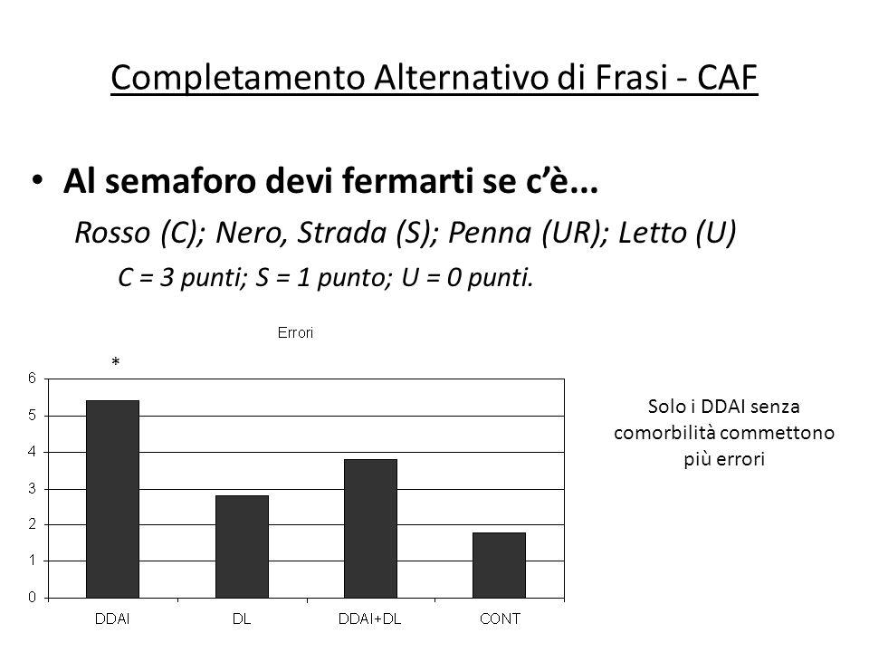 Completamento Alternativo di Frasi - CAF