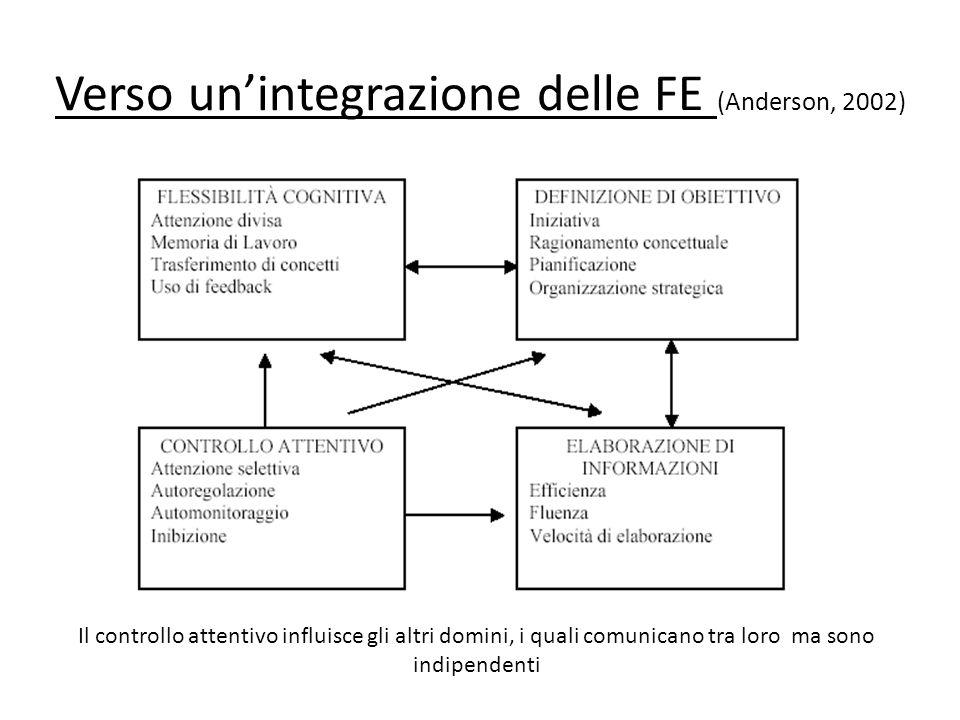 Verso un'integrazione delle FE (Anderson, 2002)