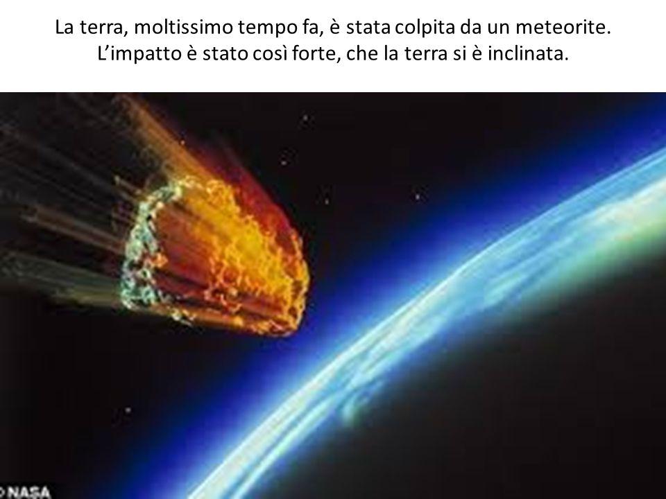 La terra, moltissimo tempo fa, è stata colpita da un meteorite