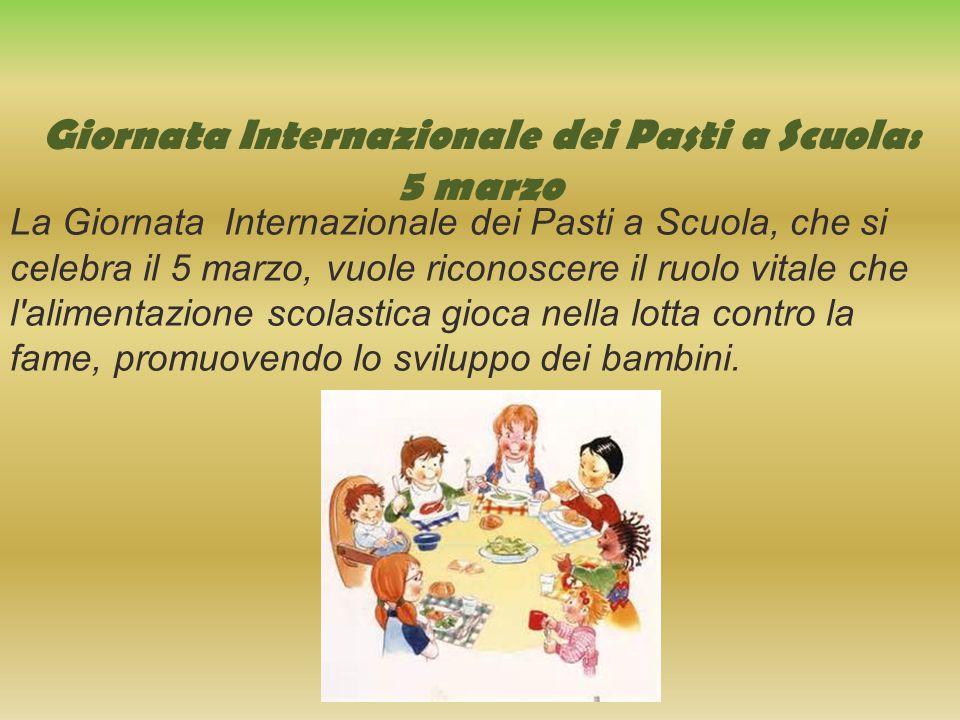 Giornata Internazionale dei Pasti a Scuola: