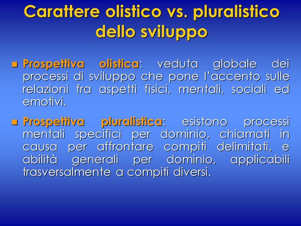 Carattere olistico vs. pluralistico dello sviluppo