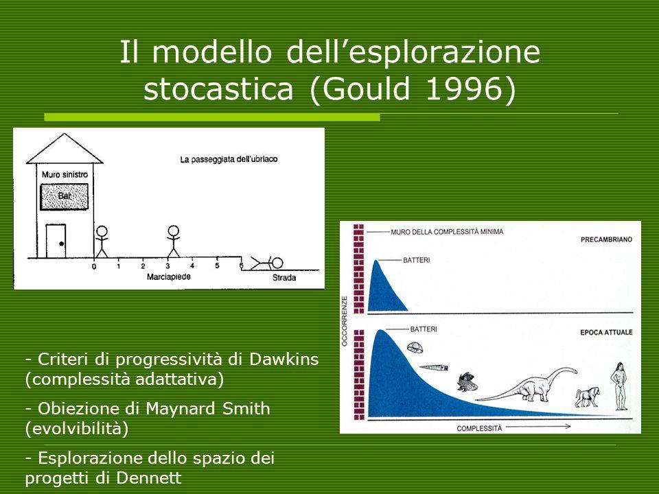 Il modello dell'esplorazione stocastica (Gould 1996)