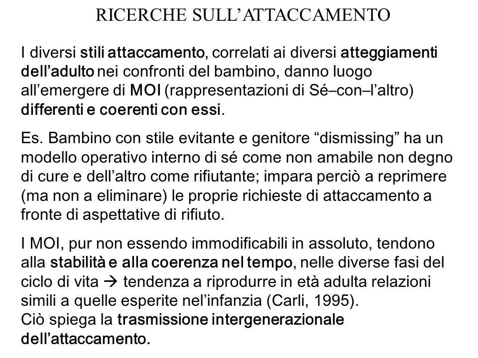 RICERCHE SULL'ATTACCAMENTO