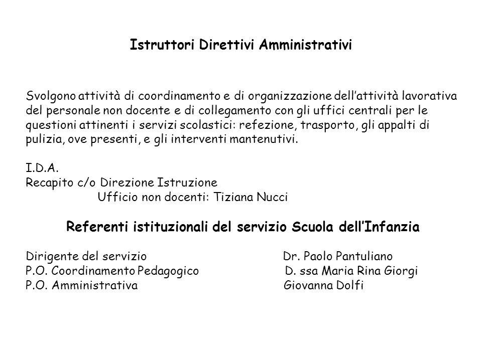 Istruttori Direttivi Amministrativi