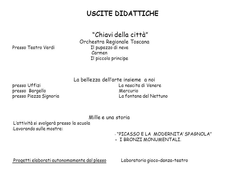 USCITE DIDATTICHE Chiavi della città Orchestra Regionale Toscana