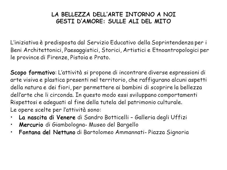 LA BELLEZZA DELL'ARTE INTORNO A NOI GESTI D'AMORE: SULLE ALI DEL MITO