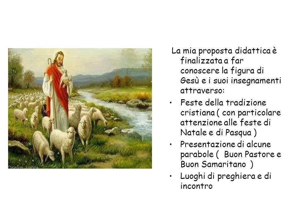La mia proposta didattica è finalizzata a far conoscere la figura di Gesù e i suoi insegnamenti attraverso: