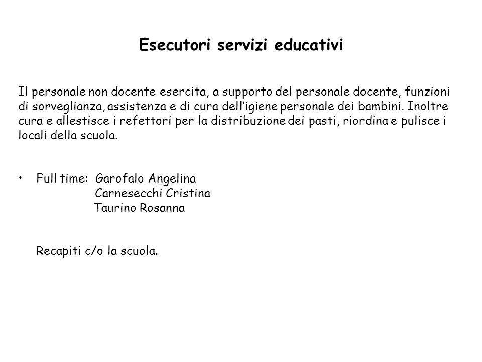 Esecutori servizi educativi