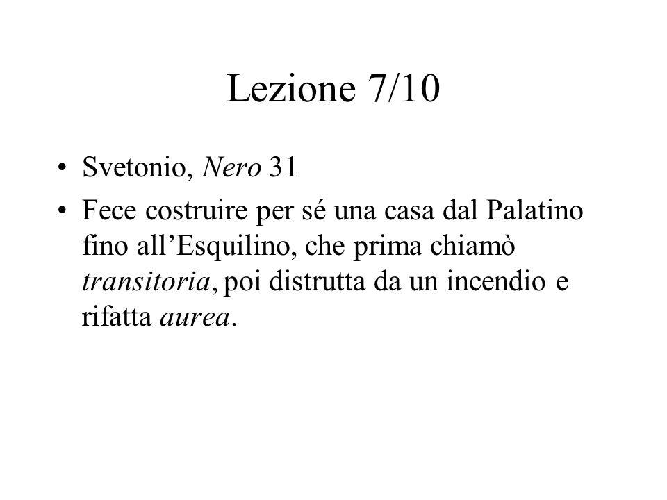 Lezione 7/10 Svetonio, Nero 31