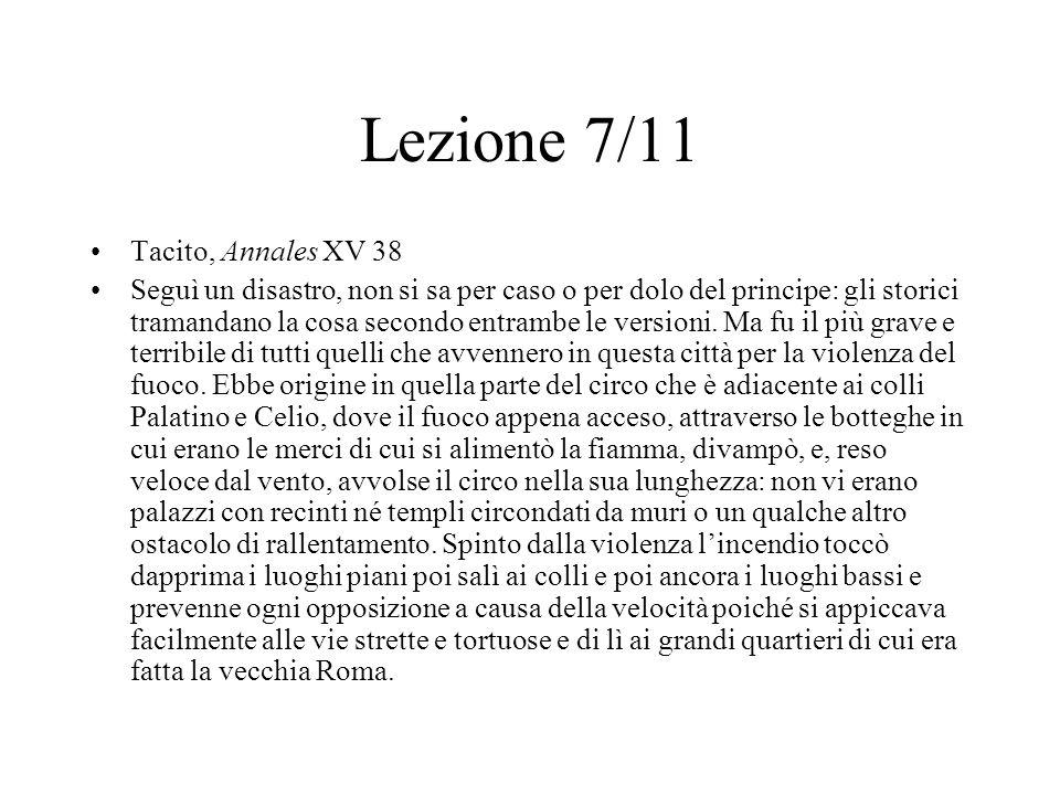 Lezione 7/11 Tacito, Annales XV 38