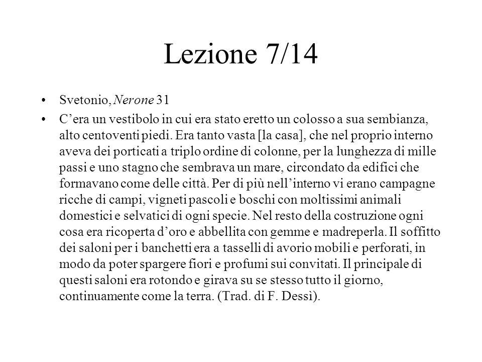 Lezione 7/14 Svetonio, Nerone 31