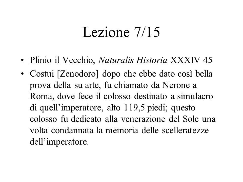 Lezione 7/15 Plinio il Vecchio, Naturalis Historia XXXIV 45