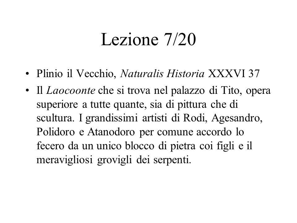 Lezione 7/20 Plinio il Vecchio, Naturalis Historia XXXVI 37
