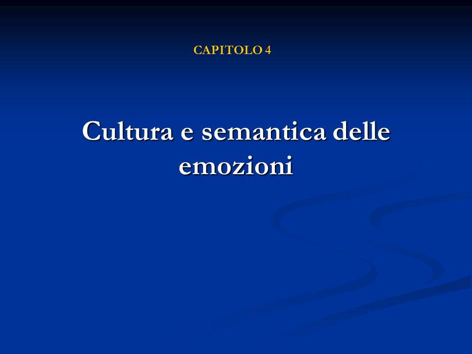 Cultura e semantica delle emozioni