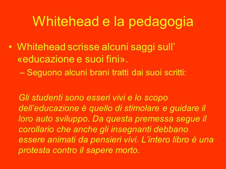 Whitehead e la pedagogia