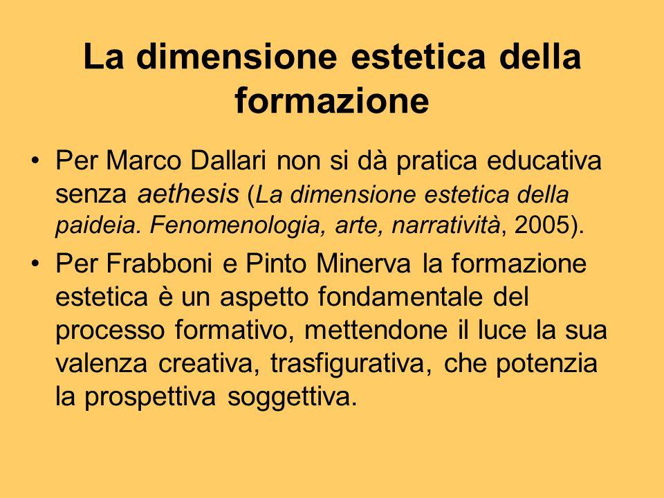 La dimensione estetica della formazione