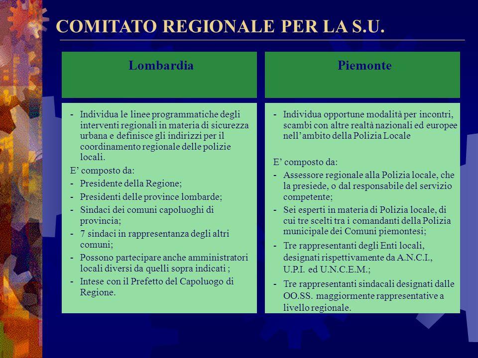 COMITATO REGIONALE PER LA S.U.