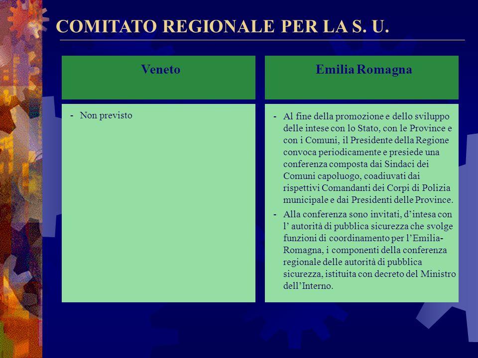 COMITATO REGIONALE PER LA S. U.