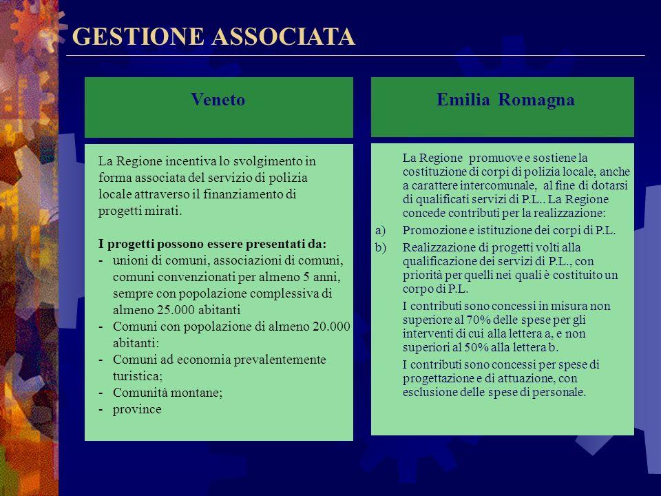 GESTIONE ASSOCIATA Veneto Emilia Romagna